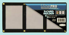 ULTRA PRO BLACK FRAME 3 CARD SCREWDOWN HOLDER 4 Screw Clear Triple Display New