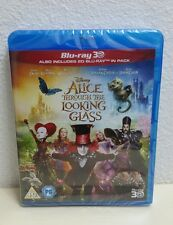 Disney Alice Through The Looking Glass Blu-Ray 3D + Blu-Ray 2-Disc Set Brand new