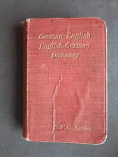 E.F.G. Pocket Series Dictionary of the German & English Languages - (c1898)
