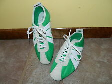 Vtg 80s GIOVY NEW NOS green white track Running athletic shoes 6 EUR 38