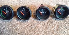 KIT CAR DASHBOARD GAUGE SET- 52 MM BLACK TEMP, VOLTS,FUEL ,OIL