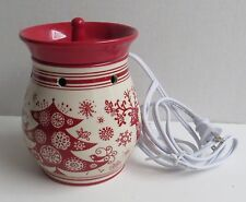 Full Size Electric Candle Wax Warmer Holiday Reindeer Christmas Tree Snowflakes