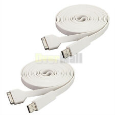 2 x White 1M USB Data Sync Charger Cable Cord For iPhone 4S 3GS iPad 1 2 3  iPod