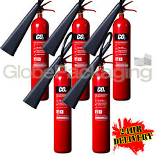 5 x 5KG CO2 CARBON DIOXIDE FIRE EXTINGUISHERS WAREHOUSE OFFICE HOME NEW *24HRS*