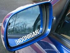 75mm (7.5cm) x2 Hoonigan Wing Mirror Stickers x2 Decals Ken Hooning Block JDM