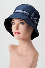 Cute + Casual NAVY BLUE BUCKET HAT Cap CHEMO HEADCOVER Cancer Turban ALOPECIA