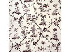 Brunschwig and Fils fabric 'WEST INDIES TOILE' in Charcoal -2 1/2 yards