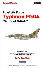 "Caracal Decals 1/72 Royal Air Force TYPHOON FGR4 ""BATTLE OF BRITAIN"" SCHEME"