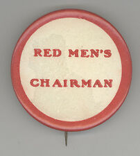 Rare 1920s IMPROVED ORDER OF RED MEN Chairman Badge PINBACK Pin BUTTON IORM