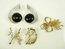 Mixed Lot of SARAH COVENTRY Pins Brooches & Clip Earrings