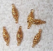 VINTAGE OUTSTANDING FINE FILIGREE 3-DIMENSIONAL BRASS CONNECTORS FINDINGS 16 PCS