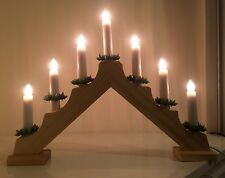 7 LIghtWooden Candle Bridge Christmas Lights Window/Mantlepiece Decoration/Mains