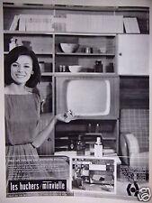 PUBLICITÉ 1964 LES HUCHERS MINVIELLE MEUBLE PAR ÉLÉMENTS - ADVERTISING