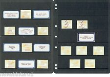 #T41.  LOT OF AUSTRALIAN  FRAMA STAMPS & SPECIALTY ITEMS, 1988 to 1989