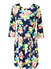 NEW ASOS MATERNITY NAVY PANSY FLORAL PRINT SKATER DRESS - SIZE 6-18 - RRP £25