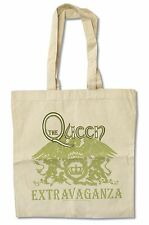 "QUEEN ""EXTRAVAGANZA"" NATURAL CANVAS TOTE BAG NEW OFFICIAL BAND"
