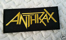 """ANTHRAX"" EMBROIDERED PATCH THRASH ROCKABILLY TATTOO PUNK HEAVY METAL ROCK"