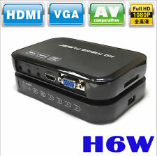 H6W 1080P FULL HD MEDIA VIDEO PLAYER CENTER HDMI AV USB SD/MMC + REMOTE CONTROL