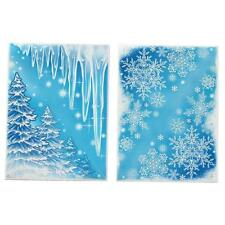 Glitter Window Corner Cling Sticker Snowflake Icicle Christmas Tree Decoration