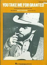 "MERLE HAGGARD ""YOU TAKE ME FOR GRANTED"" PIANO/V/GUITAR SHEET MUSIC 1981 RARE!!"