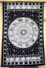 Horoscope Tapestry Indian Zodiac Astrology Wall Hanging Throw Hippie Bedspread