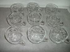 Echt Bleikristall - 9 Stück handgeschliffene Gläser mit Henkel NEU