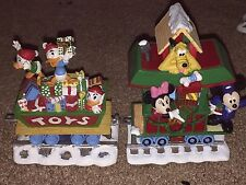 DISNEY Huey Dewey Louie Toy Car Mickey MINNIE Caboose Christmas Train Village