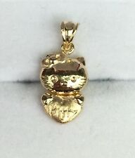 18k Solid Yellow Gold Cute 3D Hello Kitty Charm/ Pendant, 1.9 Grams