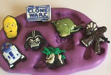 Star Wars Silicone Mould(cupcake.Topper.Crafts.yoda.r2d2.3cpo.clone.tools.