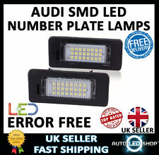 AUDI TT MK2 SMD LED NUMBER PLATE LAMPS UPGRADE LIGHT BULBS XENON WHITE CANBUS