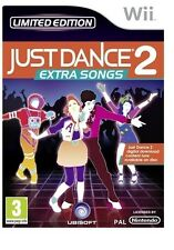 JUST DANCE 2 EXTRA SONGS= NINTENDO Wii=LIMITED EDITION=AGE 3 +=U