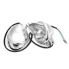 Motorcycle Headlight Lamp Touring Chrome Bullet Fog Light for Honda Motor