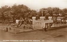 Childrens Playground Fort Beach House Park Worthing unused RP old pc Norman