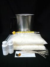 SOY WAX CANDLE MAKING KIT 2 LBS WAX,SCENT,WICKS,DYE CHIPS,POUR POT,THERMOMETER