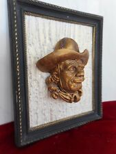 Cowboy in the wood frame by ArtLine Studio