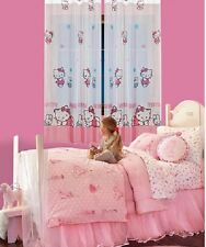 Rideau ,  voilage Hello Kitty , largeur 120cm , Hauteur au choix