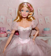 2012 Birthday Wishes Barbie Doll Pink Polka Gown Model Muse Body NRFB