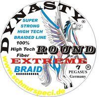 Rund Geflochtene Angelschnur 100 % Dynasty Extreme braun 1000m 0,14mm 1m/0,049€