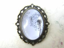 Steampunk Vintage Bronze Plated Dandelion Design Brooch New in Gift Bag