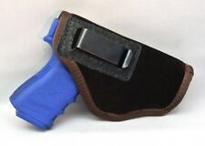 SUEDE LEATHER INSIDE THE PANTS HOLSTER FITS GLOCK MED 19 23 29 30 32 38 - BROWN