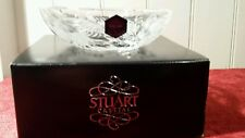 Cut glass Stuart Crystal FUSCHIA CASCADE  SWEET bowl. Boxed
