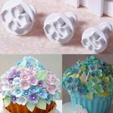 3Pcs Hydrangea Fondant Cake Decorating Sugar Craft Plunger Cutter Flower Mold FE
