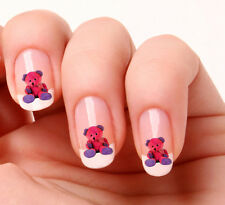 20 Nail Art Decals Transfers Stickers #329 - Cute pink teddy bear
