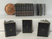Dolls House 1:12th  Encyclopedias 15 in a set with written pages and gold edging