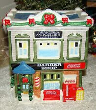 1996 Coca-Cola Town Square Collection, Barber Shop (Porcelain Lighted Village)