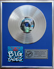 "Aerosmith - Big Ones CD/Cover gerahmt +12""Deko goldene Vinyl Schallplatte"