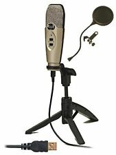 CAD*U37 MIC+POPFILTER*USB Microphone Bundle with Pop Filter FREE SHIP NEW
