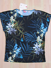 TED BAKER BNWT! *Twilight Floral* Top UK 12 3 Party ~ Holiday ~ Cruise Black