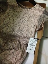 NWT ZARA LACE DRESS PALE PINK