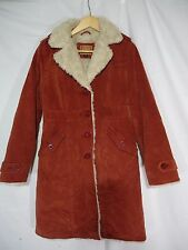 WOMEN'S BKE VINTAGE RED FUR Button Down Long JACKET
